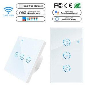 Image 1 - ÂU/MỸ Tiêu Chuẩn WiFi Thông Minh Cảm Ứng Màn Công Tắc 90V 250V AC ỨNG DỤNG Điều Khiển từ xa Sổ công tắc Hoạt Động với Alexa Google