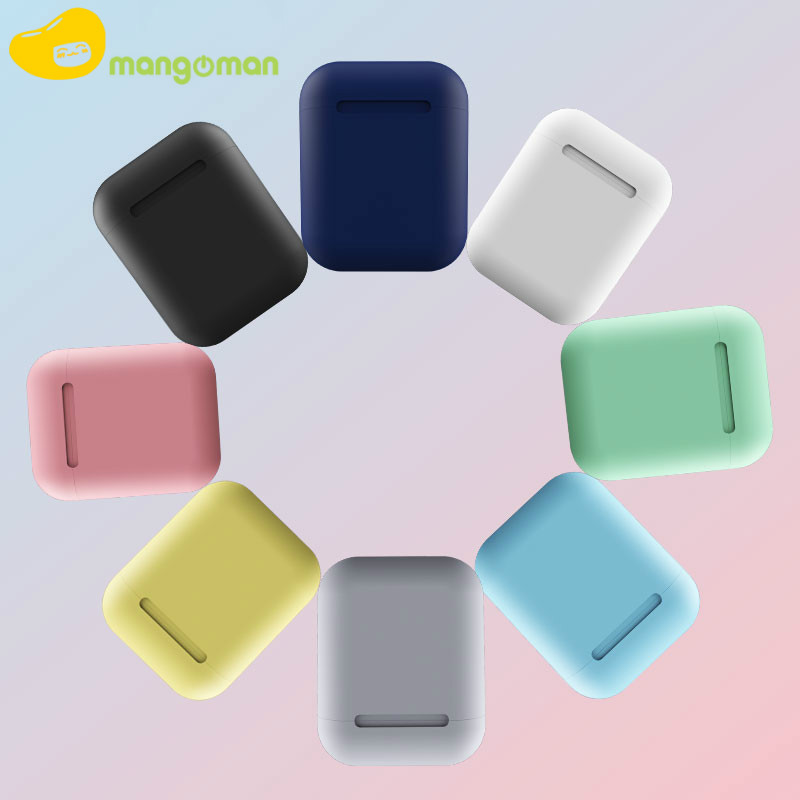 Mangoman Inpods 12 earphone headphone wireless Earbuds with Microphone for All Phones pk i10 i11 tws 2019 New Headset Inpods 12