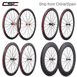 Super light R13 ceramic carbon bicycle wheelset 24 38 50 60 88mm depth clincher tubular road bike wheels AS511SB FS522SB hub(China)