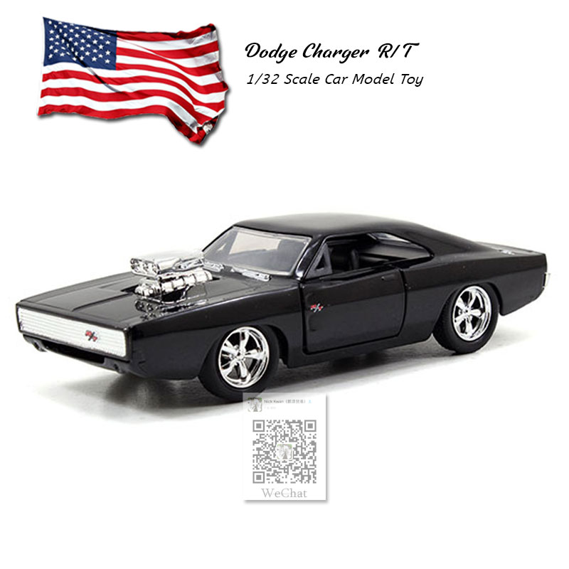 JADA 1/32 Scale Car Toys 1970 DODGE CHARGER R/T Diecast Metal Car Model Toy For Gift/Collection/Kids