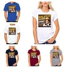 Футболка Мужская/Женская короткая с круглым вырезом, Повседневная рубашка из сукна, с забавной коллекцией Bob Wills His Texas Playboys Cn(origin)