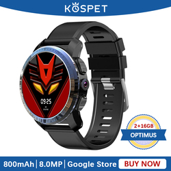 KOSPET OPTIMUS Smartwatch wodoodporny 2GB 16GB aparat pulsometr 4G Android Bluetooth inteligentny zegarek GPS dla mężczyzn telefon