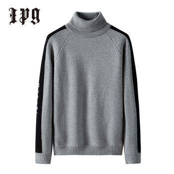 Ipg New Fashion Trend Men Sweater Japanese-style Harajuku Turtleneck Men's Autumn Winter Pullover Casual Sweaters Mens Clothing
