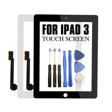 עבור iPad 3 9.7 אינץ A1416 A1430 A1403 מגע מסך החלפת Digitizer זכוכית חיישן פנל חדש LCD חיצוני