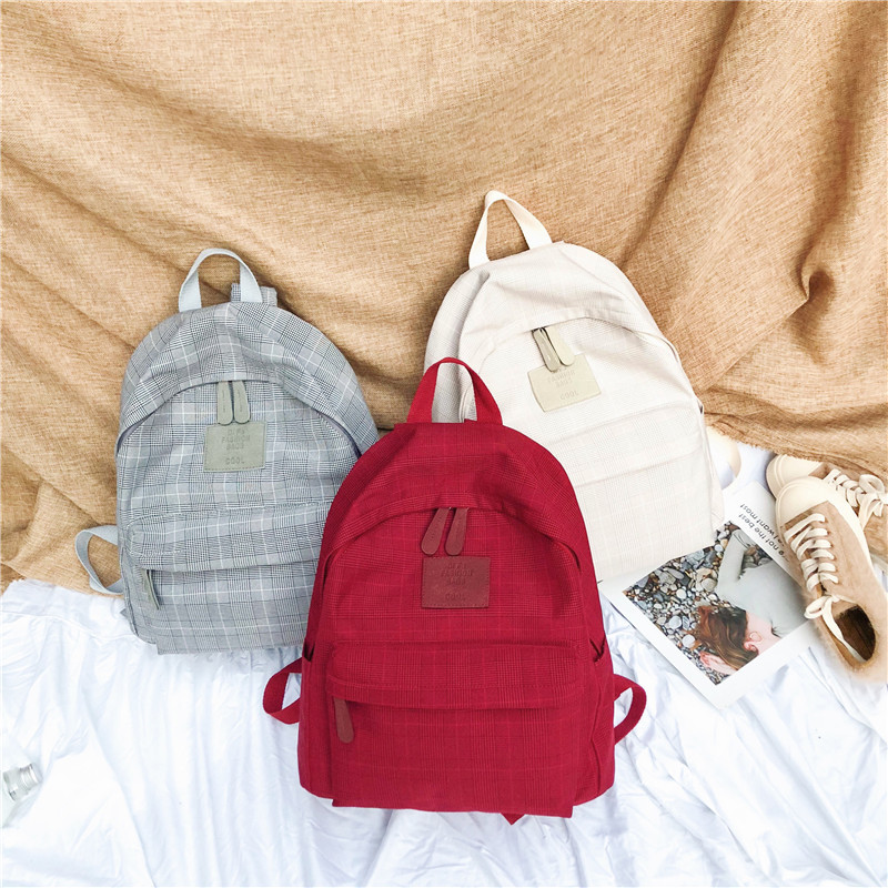 Fashion classic girl backpack 2019 Harajuku ulzzang middle school student plaid bag campus ins outdoor travel backpack Mochila image