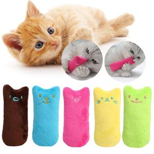 1PC Mini Cute Pet Plush Toys Funny Interactive Plush Cat Toy Cat Mint Scratcher Teeth Tools Interactive product Pet Supplies