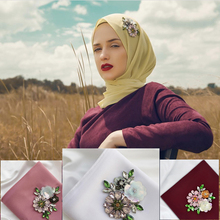 New Water drill hand nail bead Women Scarf Chiffon Flower Embroidery Shawl