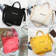 Shoulder-Bag Tote-Handbag Fitness-Bag Canvas Crossbody Travel Gym Girls Sports Beach