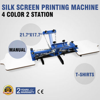 4 Color Silk Screen Printing Machine 2 Station Press Printer DIY Shirt Equipment цена 2017