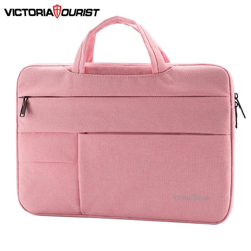 "Victoriatourist Laptop Bag 14"" 15.6"" Men Women Business Handbag Stylish Briefcase Multi-layer Space Messenger Bag"
