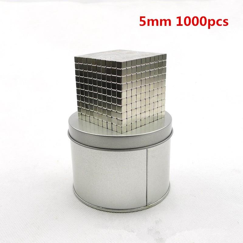 F5 1000pcs Magnetic Balls Neo Cube With Metal Box Metaballs Neodymium Puzzle Magnet