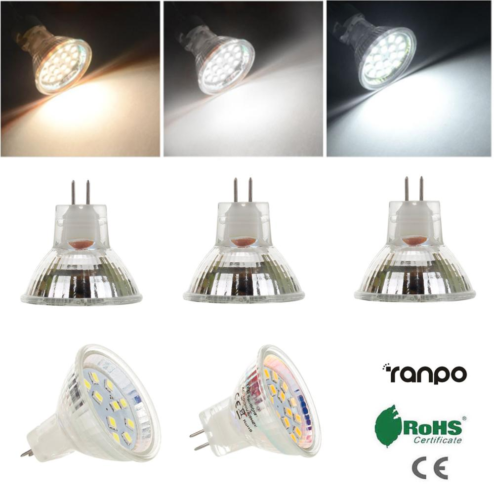 MR11 GU4 LED Spot Light Bulbs AC DC 12V 24V 2835 SMD 2W 3W Cool Warm White Lamp 10W 20W Halogen Light Equivalent 12 18 LED Chips