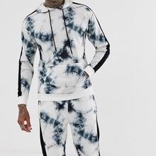 Casual Slim Fit Hoodies Men 2019 Pullover White Hoodie Hooded Long Autumn Fashion Printed Sweatshirt Streetwear