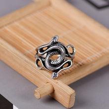Женское и мужское кольцо с открытым пальцем в стиле панк серебряным