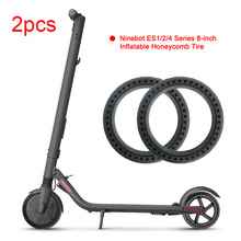 Honeycomb Tires for Ninebot Scooter ES1 ES2 ES4 Electric Scooter 8 Inch Wheel Tyre Explosion proof Tubeless Tire Replacement