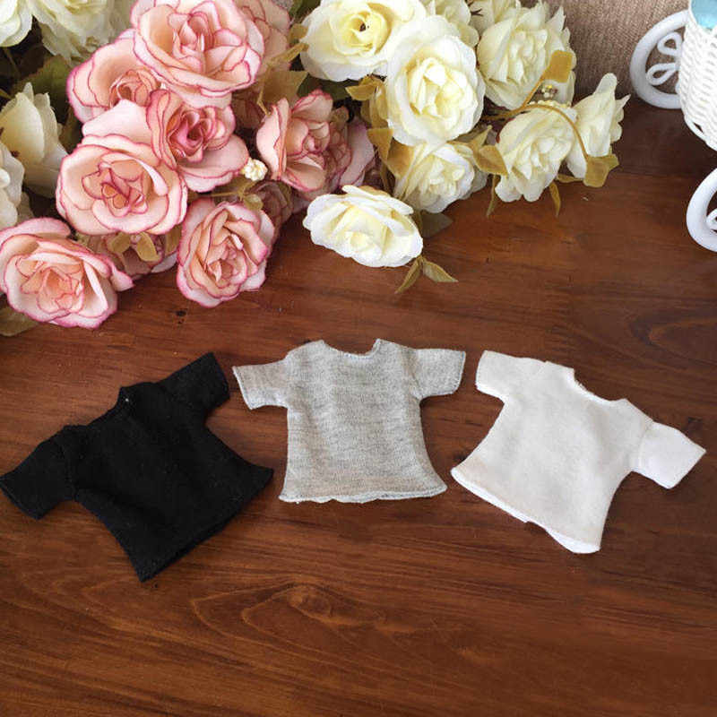 1pc 1/6 fashion Doll T-Shirt for Blyth Dolls Causal Clothes For Barbie Shirts For Momoko Azone Doll Clothes 1:6 Doll Accessories