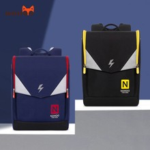 NOHOO school bags for teenage boys big capacity Safety reflective strip backpack Waterproof travel sac a dos enfant 6-12 years