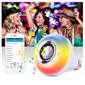 Светодиодный RGB цветной ламповый светильник E27 12 Вт Bluetooth управление умная Музыка Аудио Динамик лампа