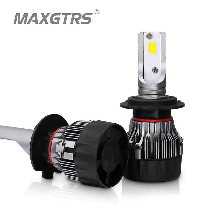 2x 10000LM Car LED Headlight With CSP Chip LED H7 H8 H11 9012 9005 HB3 9006 HB4 Auto Headlamp Fog Bulbs Projector For Lens