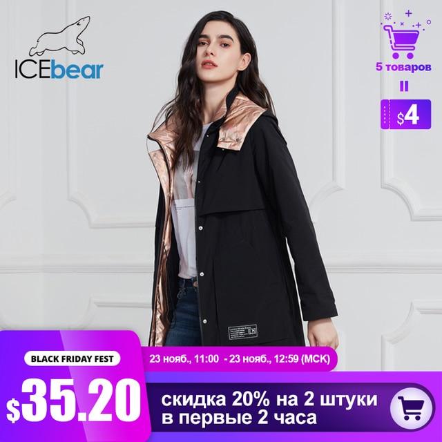 جديد لعام 2020 من ICEbear معطف طويل للنساء جاكيت عالي الجودة للنساء ملابس غير رسمية للنساء ماركة ملابس نسائية GWC20727I