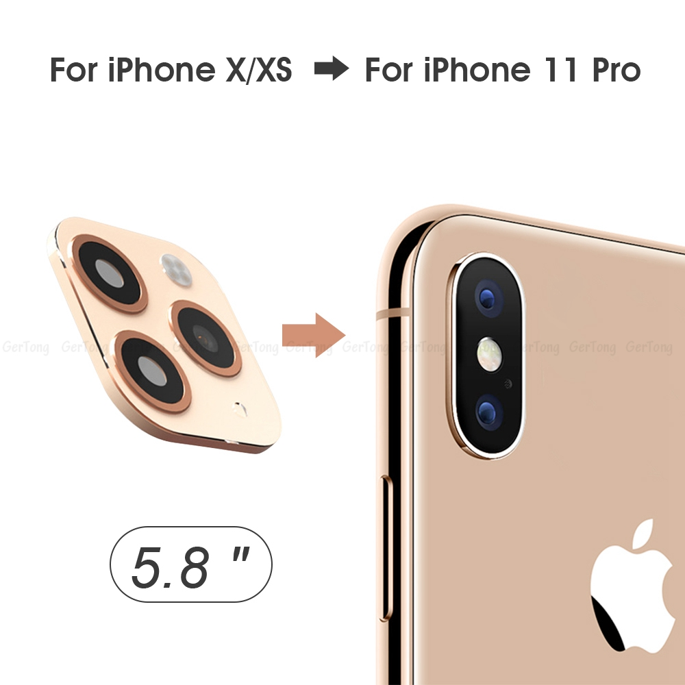 H27cd9a6c738f45af8467f946ade95319P - 3D Alumium Camera Lens Seconds Change for iPhone 11 Pro Max Lens Ring Cover Sticker For iPhone X R XS MAX Rear Protective Cover