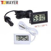 Thermomètre numérique-50 à 110, Mini écran LCD, compteur, réfrigérateurs, refroidisseurs, Aquarium, Mini Instrument de sonde de 1M