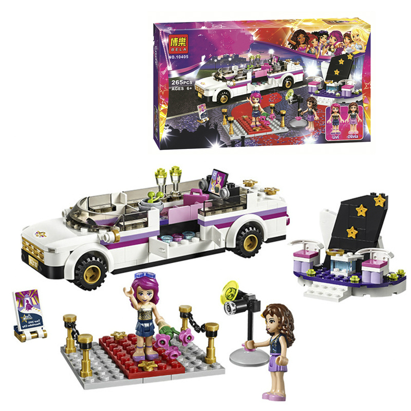 Bela 10405 Pop Star Limo Set 265pcs Building Blocks Bricks Toys Children Gift Compatible With  41107