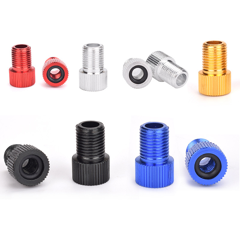 5Pc Pump Bicycle Convert Presta To Schrader Copper Bike Air Valve Adaptor Adapters Wheels Gas Nozzle Tube Tool