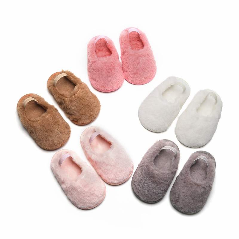 Spring And Autumn Cotton Home Baby Slippers Lovely Princess Slippers Baby Shoes Girls Toddler Shoes Baby Warm Non-slip Shoes