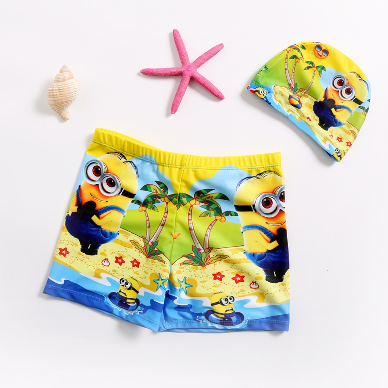New Style CHILDREN'S Swimming Trunks Top Grade Fabric BOY'S Swimming Trunks Digital Printing Swimming Trunks Manufacturers Direc