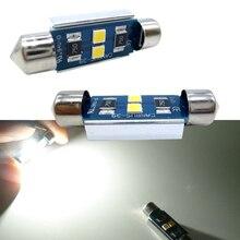 цена на 2pcs car Festoon CANBUS LED 31mm 36mm 39mm 41mm C5W led ERROR FREE 3030 smd interior bulbs License Plate Dome Lamp Reading Bulb