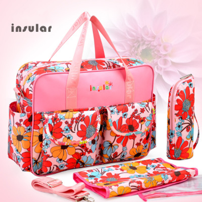 Fashion Diaper Bag Travel Waterproof And Increase Printing Handbag Place Child Items Bag Mommy Bag Pregnant Women's Bag For Baby