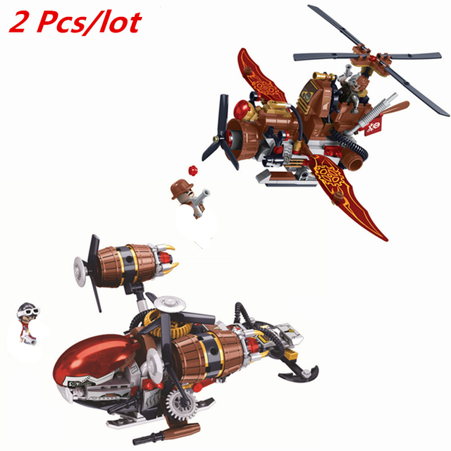 238pcs Age Of Steam The Steam Helicopter Building Blocks Bricks Toys Boys Gift