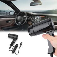 Drop Schiff Tragbare 12V Auto styling Haar Trockner Hot & Cold Klapp Gebläse Fenster Defroster 10166