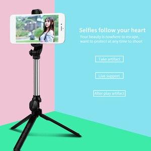Image 5 - Palo de Selfie inalámbrico con Bluetooth, trípode extensible de mano, Mini trípode plegable con obturador remoto para iPhone y Android