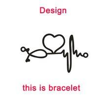 Women Bracelet Doctor Heartbeat Jewelry Custom Stainless-Steel Special-Gifts for Nurse