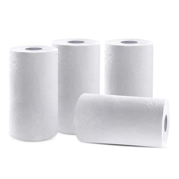 4 Rolls Kitchen Roll Towels, Oil Absorption Roll Paper Towels Can Be Used in All Kinds of Kitchen Utensils