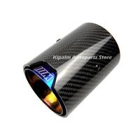 2 pçs real da fibra do carbono azul tubo de escape ponta silenciador para bmw m desempenho f87 m2 f80 m3 f82 m4 f83 m5 f10 m6 f12 f13 Silenciadores     -