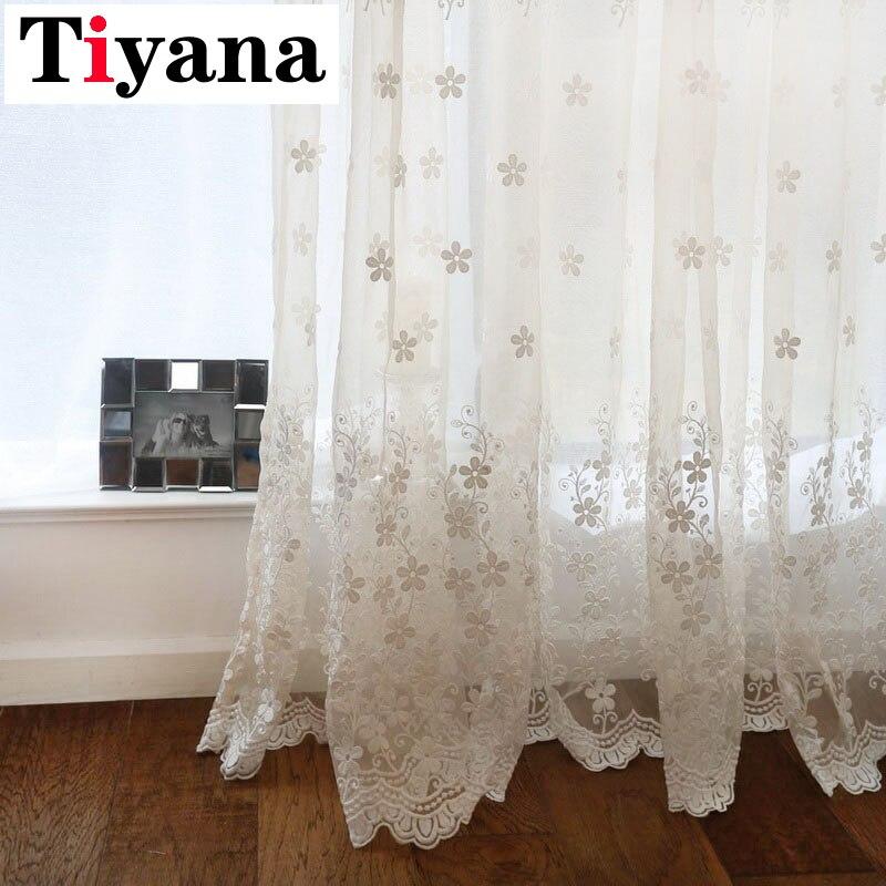 Tiyana Europa, cortinas transparentes de lujo con flores blancas para sala de estar, cortinas de ventana bordadas, cortinas modernas de tul para cocina ZH023Y NEO Coolcam Smart Home Z Wave Plus, interruptor inteligente de cortina para cortina eléctrica motorizada, persiana enrollable