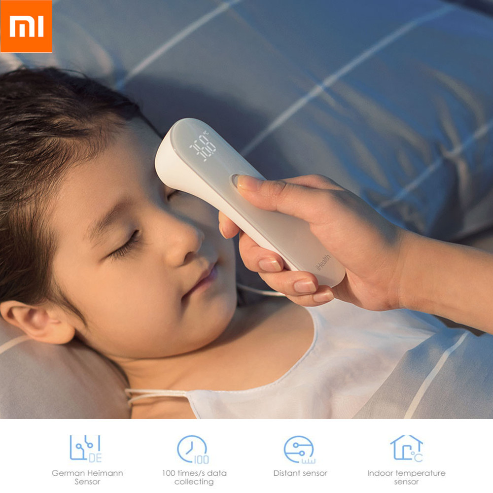 Xiaomi IHealth Electric Forehead Thermometer Non-contact Infrared LED Digital Display Body Health Detector Baby Care For Kids