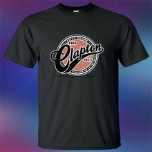 Eric clapton guitarrista cinquenta anos camiseta preta masculina tamanho s a 3xl