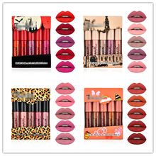 5Pcs/Set Waterproof Lipstick Sexy Lip Stick Matte Velvet Lipsticks Lips Makeup Cosmetics Labiales Matte