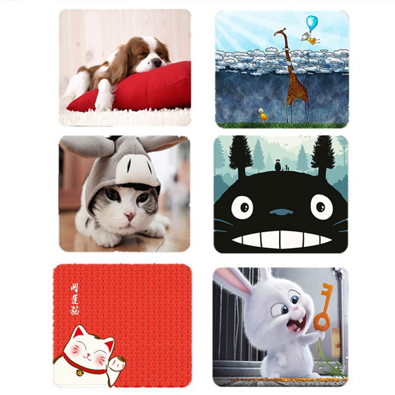 Small Mouse Pad Mat Cute Cartoon Animal Computer Mousepad Anime Totoro Dog Cat Ribbit Pattern Office Mouse Pad For Kid Girl Mac