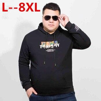 NEW 8XL 7XL T Shirt Men Brand Fashion Men'S Hooded Stitching Design Tops & Tees T Shirt Men Long Sleeve Loose Male Tops
