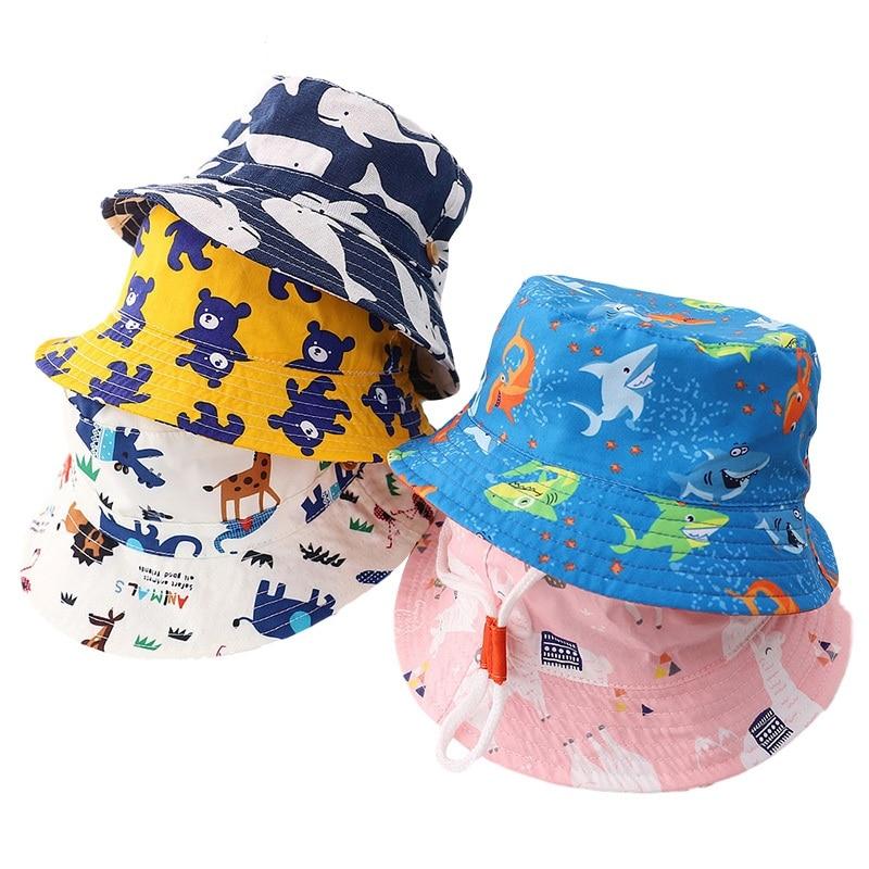 Summer Baby Sun Hat Adjustable, Outdoor Toddler Hat Kids Wide Brim Chin Strap Summer Hat Fisherman Hat Soft Beach Hats