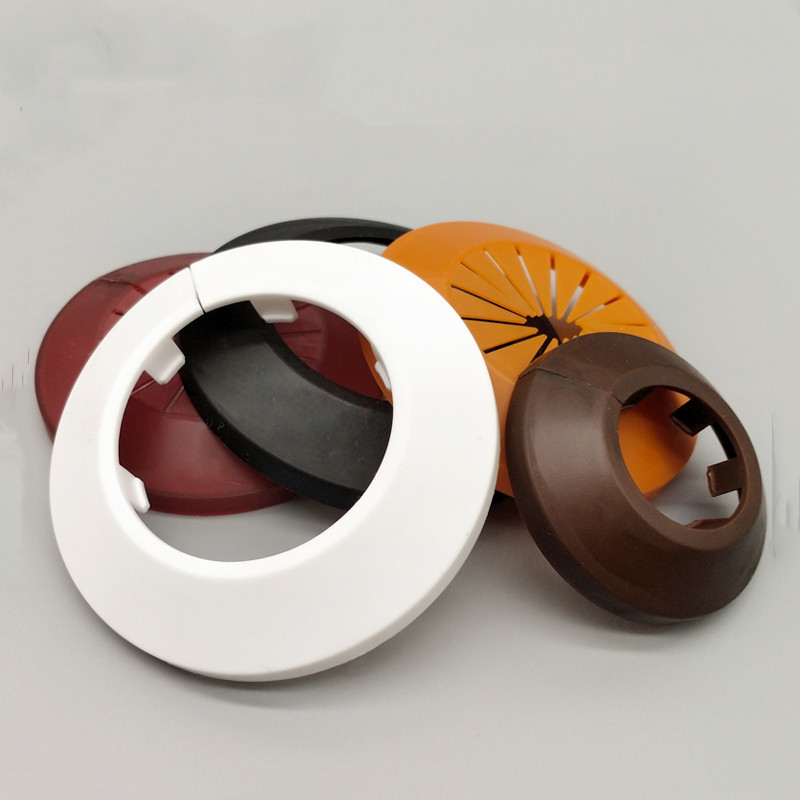 2pc Round Decorative Cover Plastic PP Wall Hole Duct Pipeline Cover Valve Pipe Plug Kitchen Shower Room Home Accessories