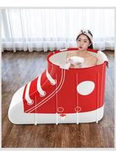 Portable Foldable Bathtub High Quality Shoe Type Bath Tub Comfortable Household Adult Tub Single Bathing Bucket SPA Massage Pool