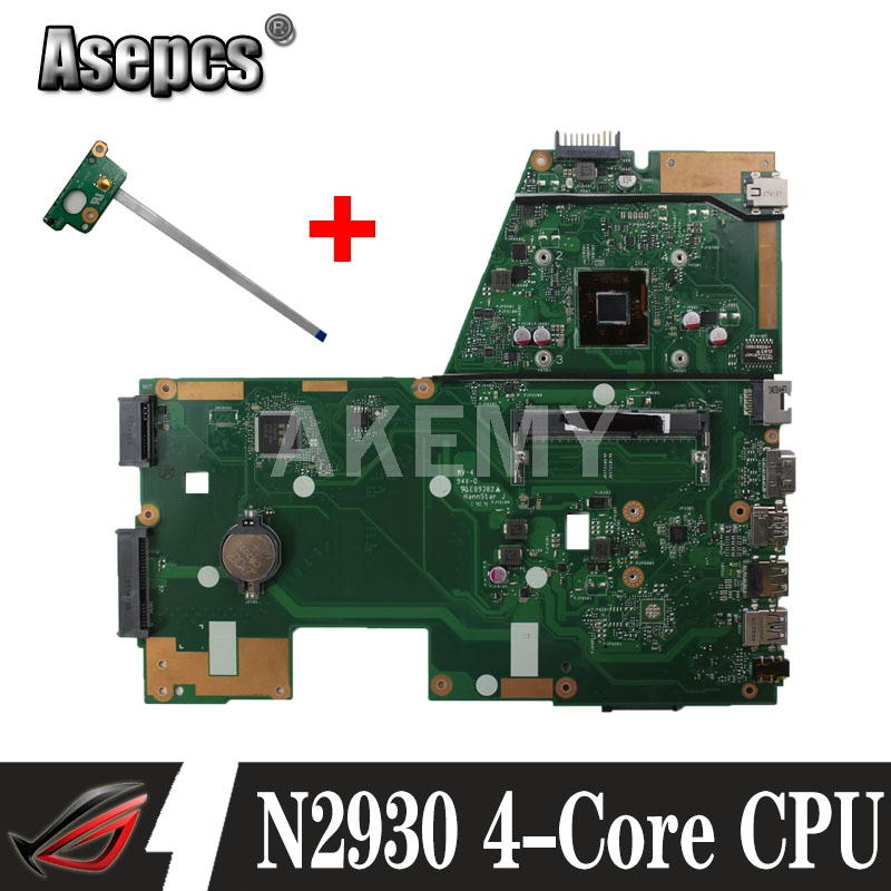 Asepcs X551MA Laptop motherboard For Asus X551MA X551M X551 F551MA D550M Test original mainboard N2930 4-Core CPU