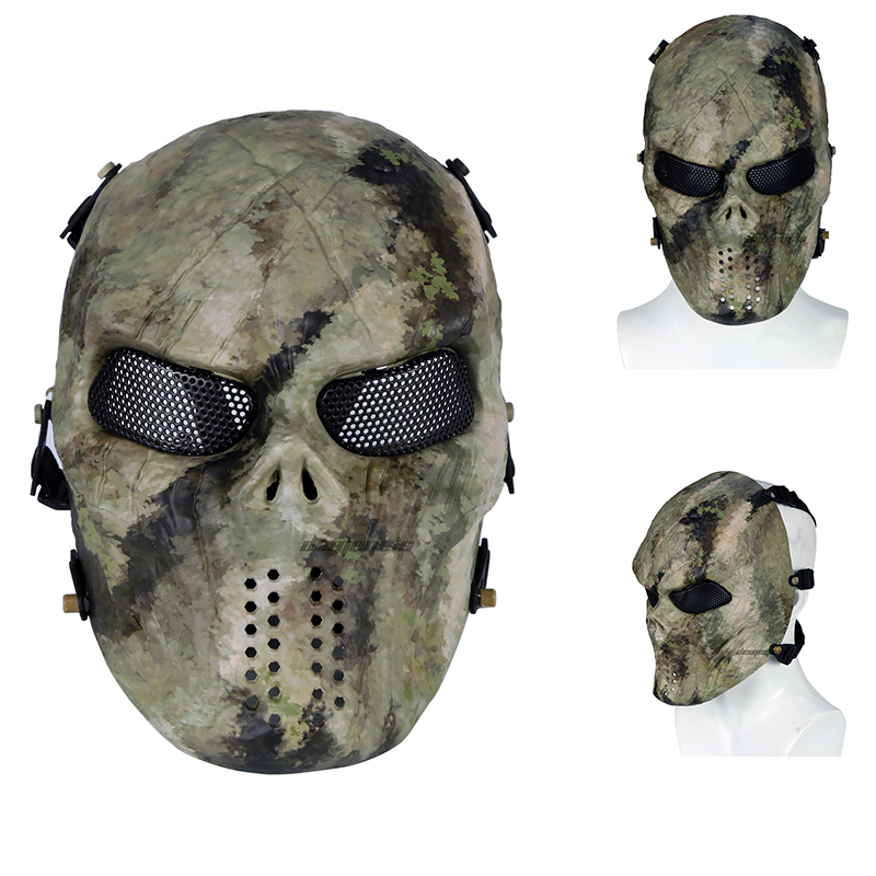 Outdoor Tactical Mask Camo Breathable Airsoft Paintball Hunting Shooting Skull Mask Men Women Halloween Military Wargame Masks