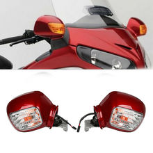 Motorcycle Pair Rear View Mirror W/Turn Signal for Honda Goldwing GL1800 2001-2017 03 04 05 motorcycle rear view mirrors w smoke signal lens for honda goldwing gl1800 f6b 2013 2017 16
